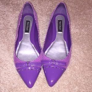 White House Black market Ella flat shoes in iris